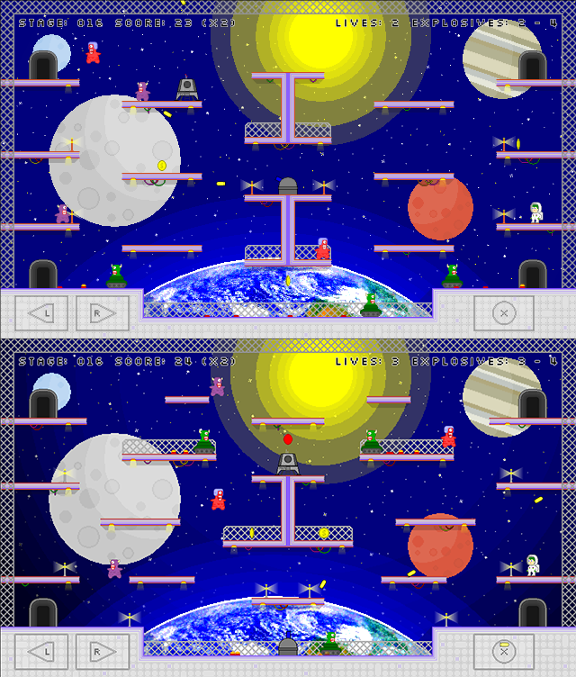 Space Bastards Space level before and after
